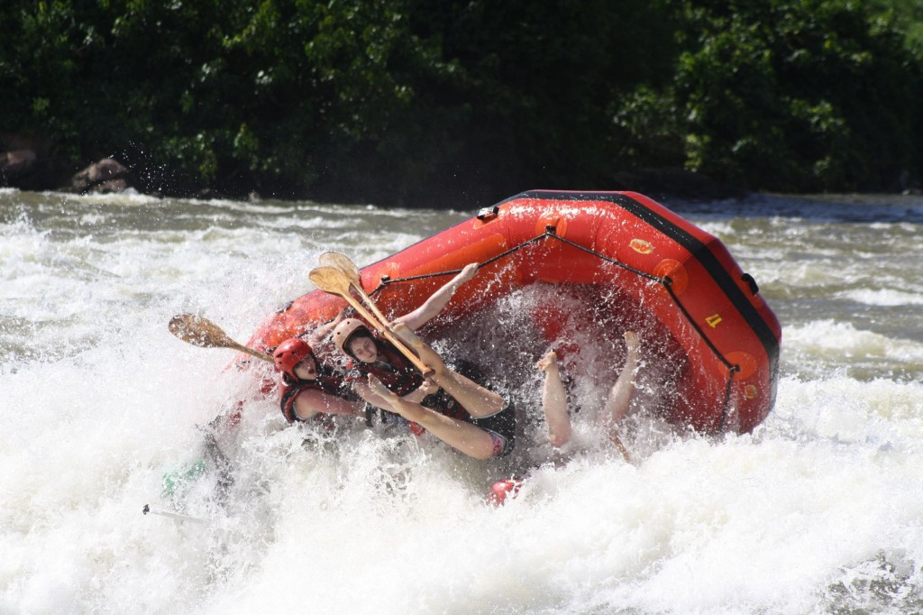 Rafting on Rafting the White Nile in Jinga,Uganda