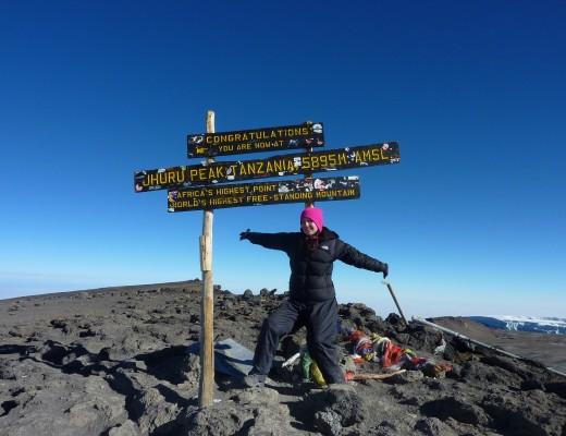 On the Top of Kilimanjaro - Helen in Wonderlust