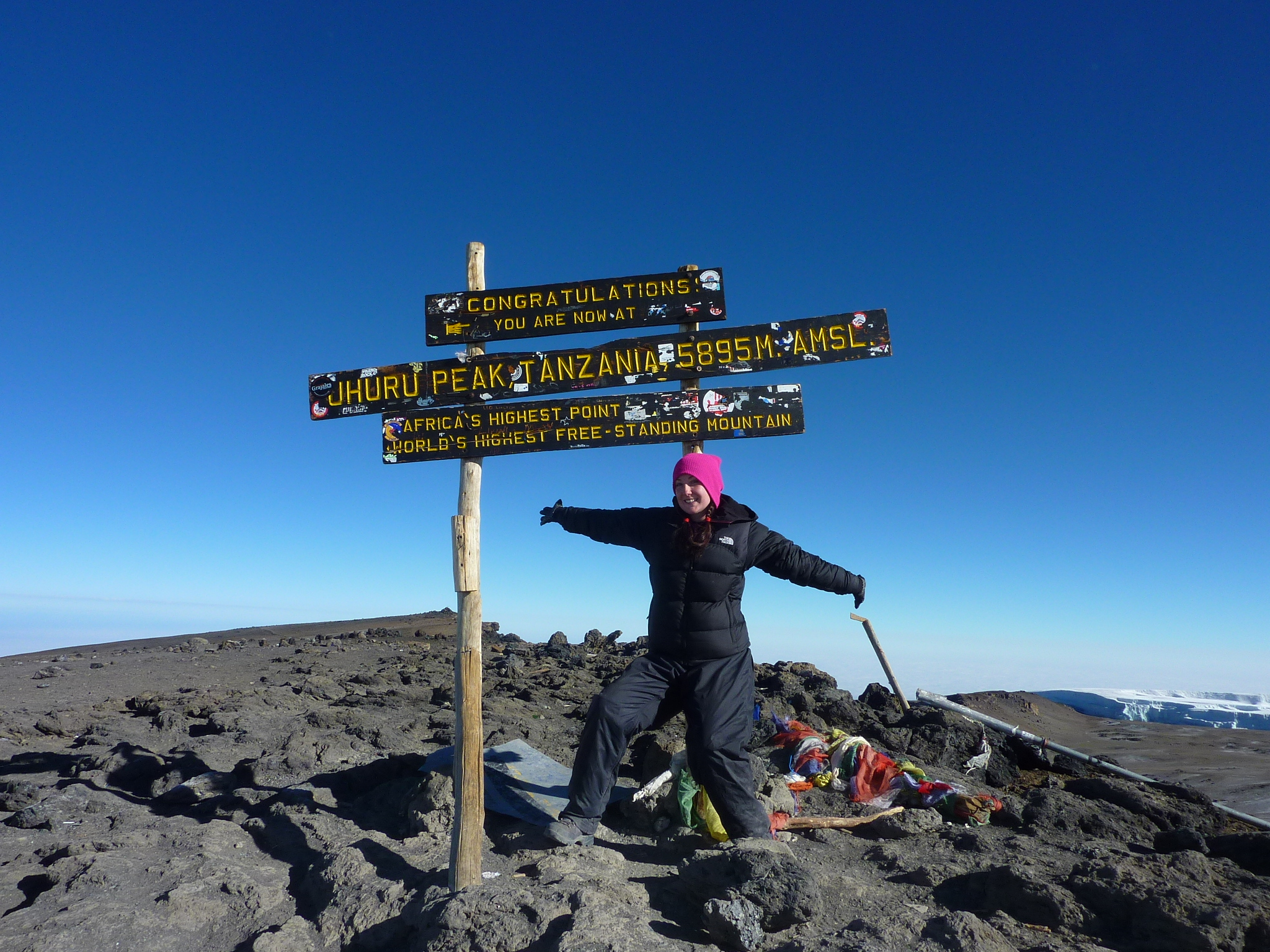 On the Top of Kilimanjaro - Helen in Wonderlust
