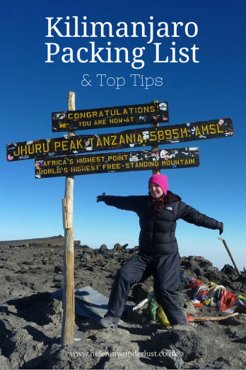 Kilimanjaro Packing List & Top Tips