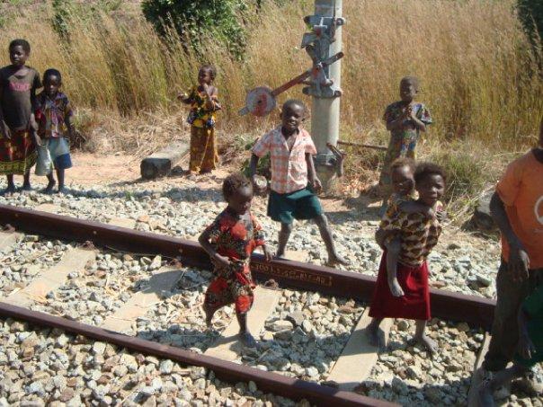 Kids on the Tazara Railway Helen in Wonderlust