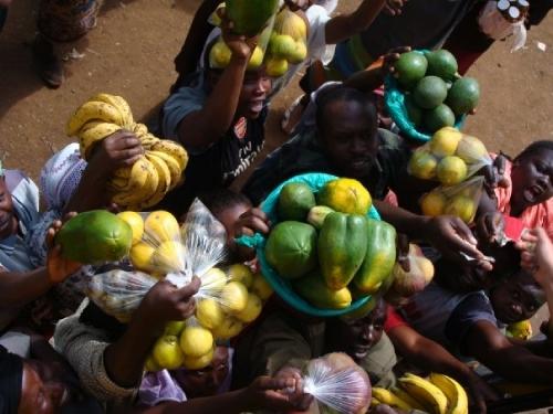 Fruit Vendors on the Tazara Train Helen in Wonderlust