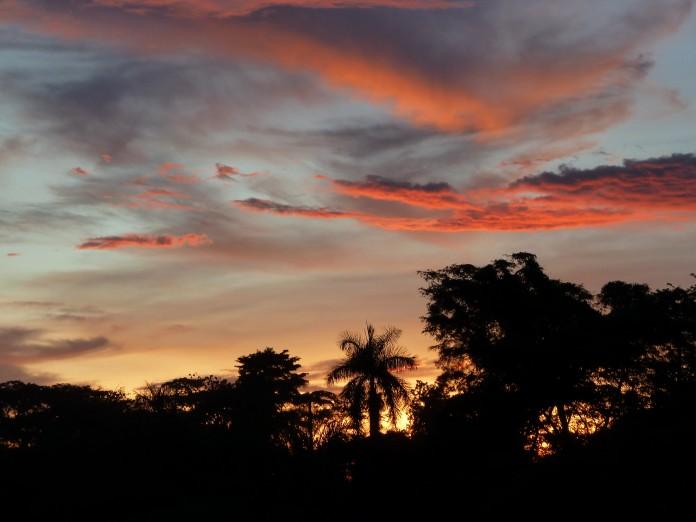Sunset over the Nile, Uganda