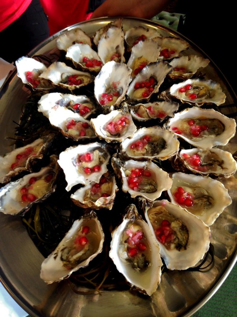 Ireland's Wild Atlantic Way Oysters with Pomengranate Mulranny Oark Hotel