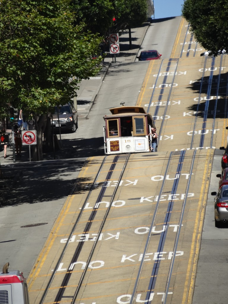 Riding a Cable Car in San Francisco