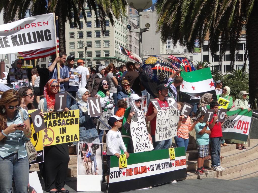 Peace Rally for Syria San Francisco