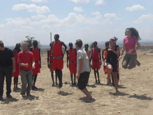 Showing the Maasai how it's done!