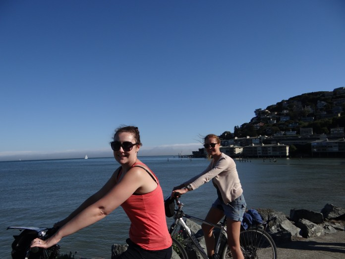 Cycling in Sausalito