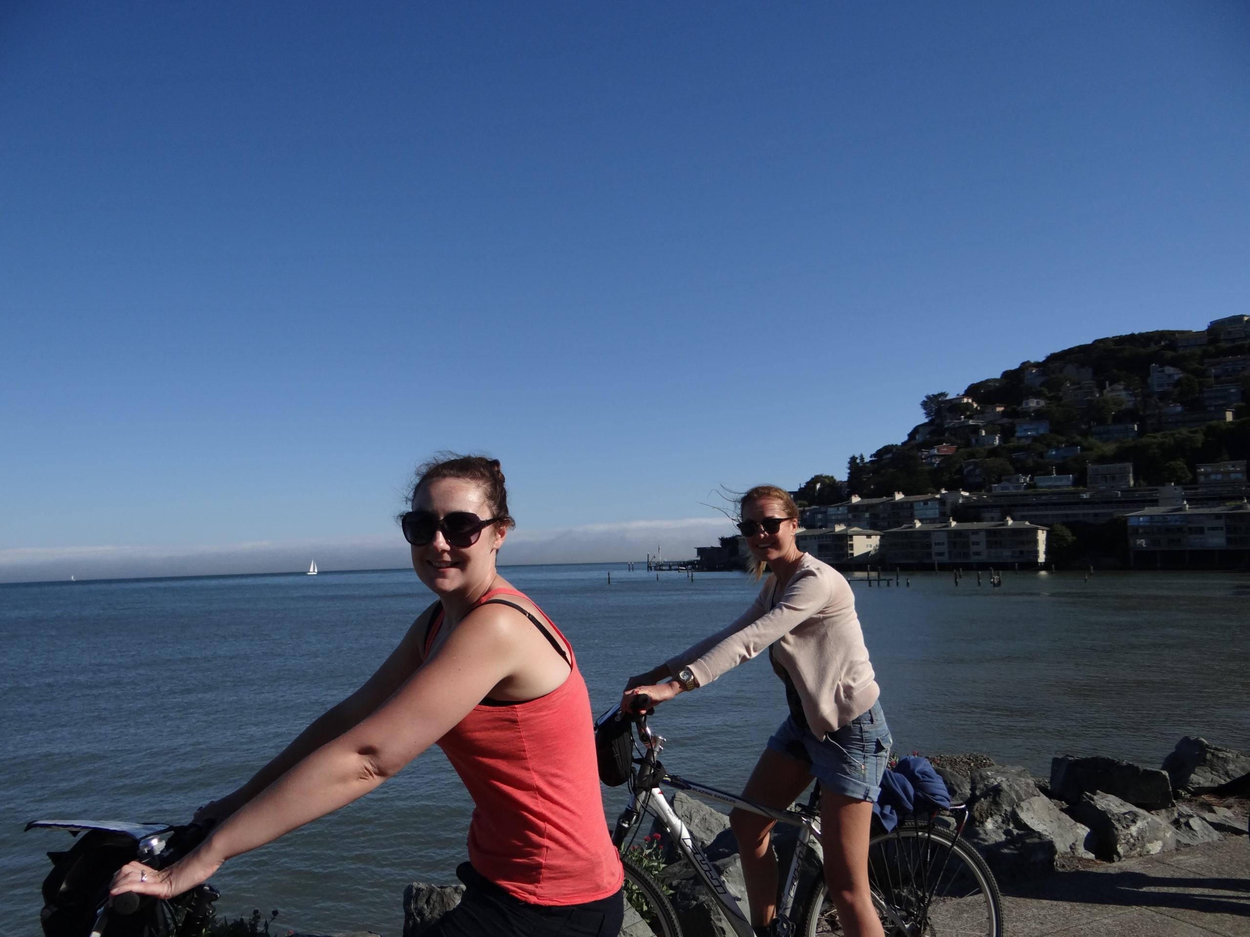 Cycling in Sausalito