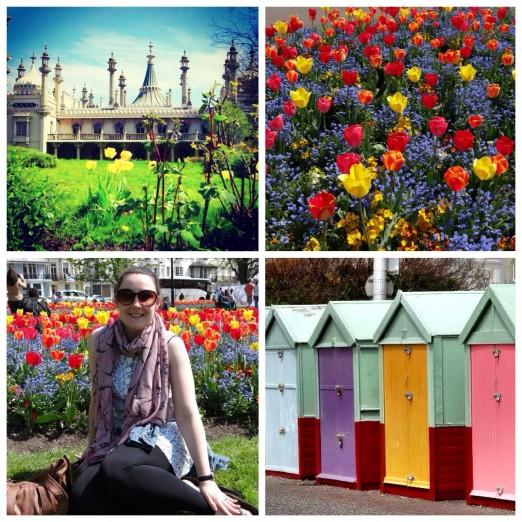 Brighton Pavillion Tulips Beach Huts Hove