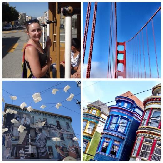 Golden Gate Bridge Street Art Painted Ladies Haight Ashbury