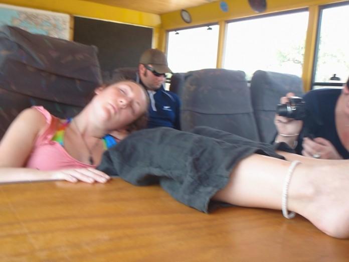 Asleep on the Truck