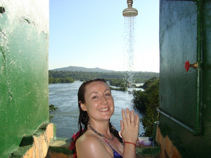 Cold shower Africa, Uganda, overland truck tour