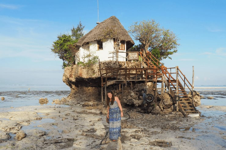 The Rock Zanzibar When the Tide is Out