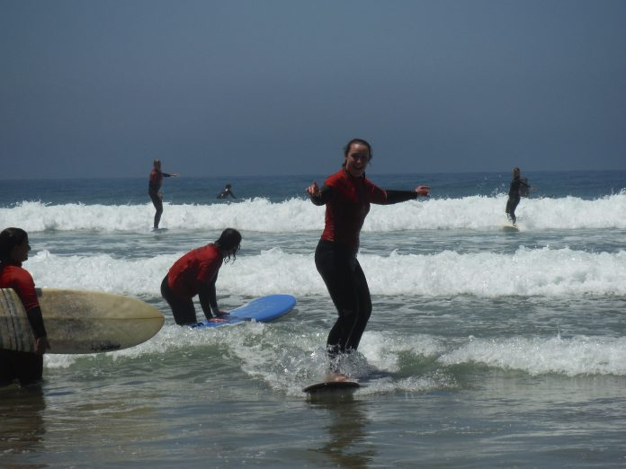 Surfing - Tamraght, Morocco.