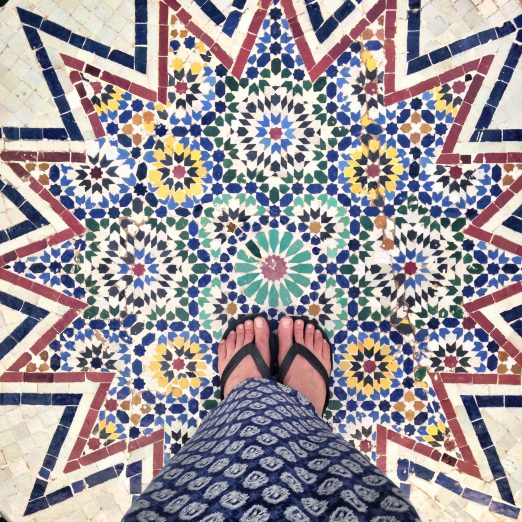 The tiled floor of the Museum of Marrakech.