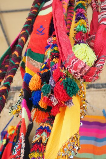 Colourful Moroccan handicrafts.