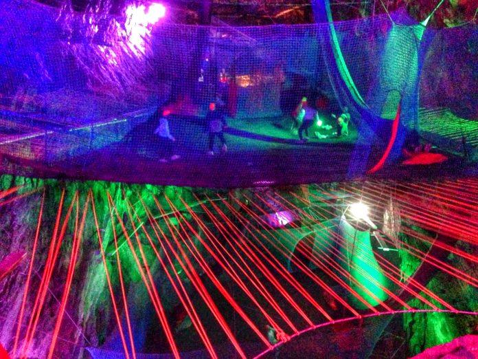 Bounce Below at Zip World Caverns