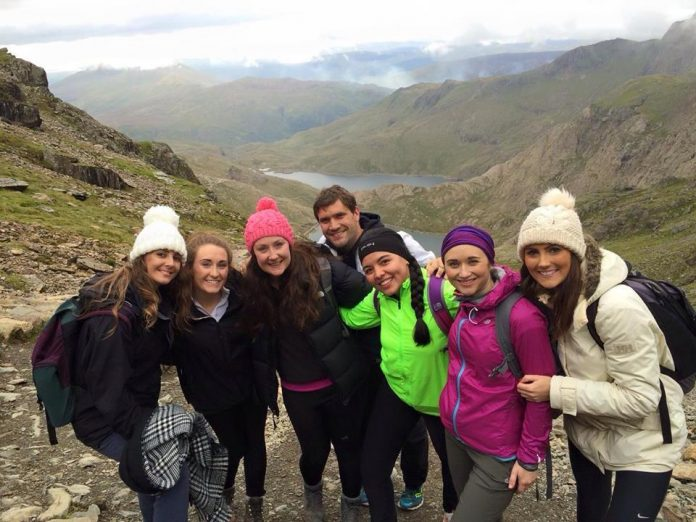 Climbing Mount Snowdon in North Wales