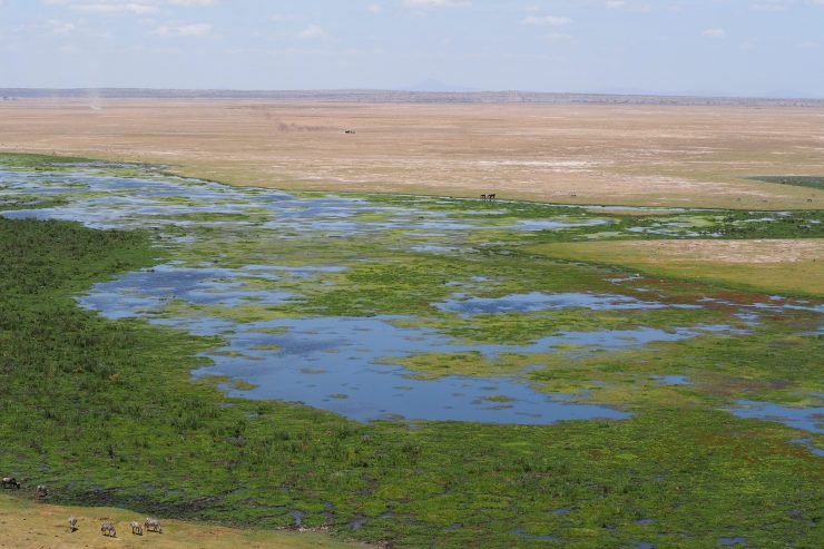 View from Observation Hill in Amboseli National Park.