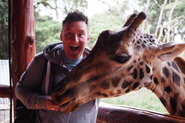 The Nairobi Giraffe Centre.