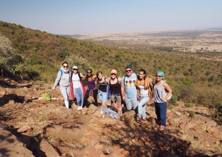Hiking Siana Hill in the Masai Mara.