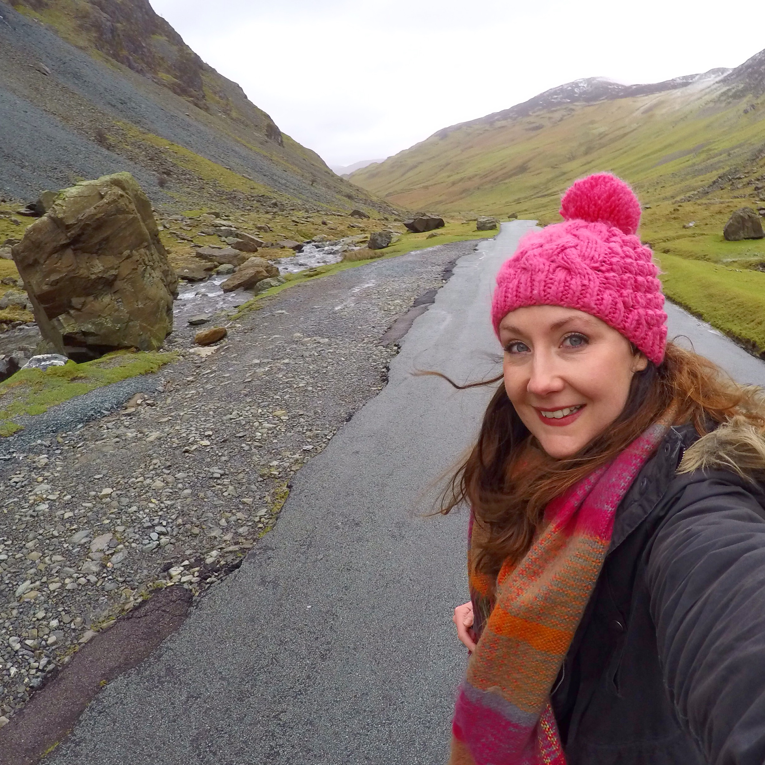 Helen in Wonderlust, Honister Pass - The Lake District