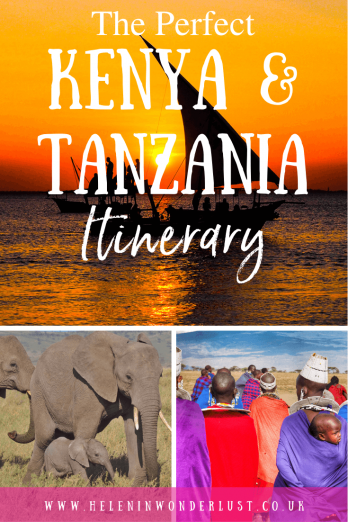 Here's my perfect 2-week Kenya and Tanzania itinerary to help you plan the trip of your dreams to Africa! Includes where to go, as well as things to do!