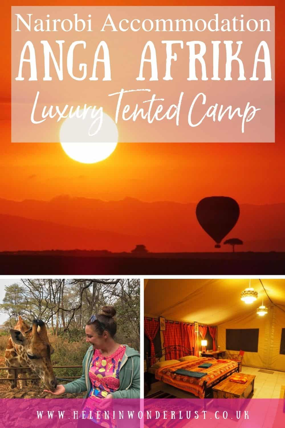 Staying at Anga Afrika Luxury Tented Camp in Nairobi