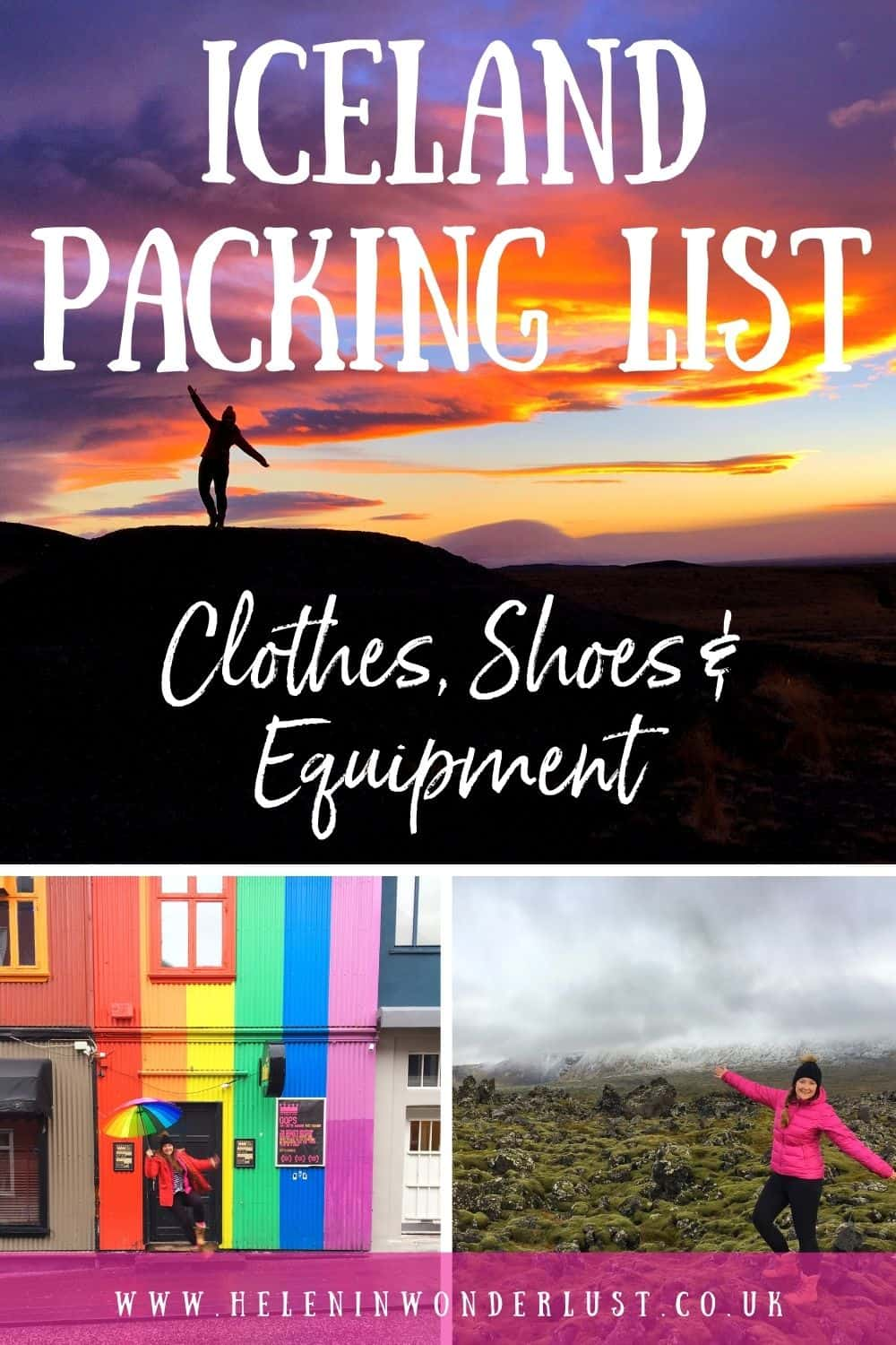Iceland Packing List - Clothes, Shoes & Equipment
