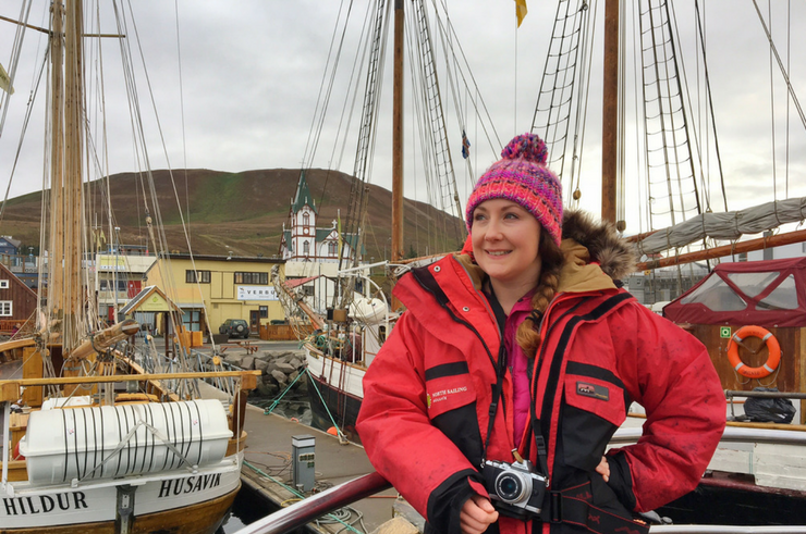 Whale watching in Husavik Iceland