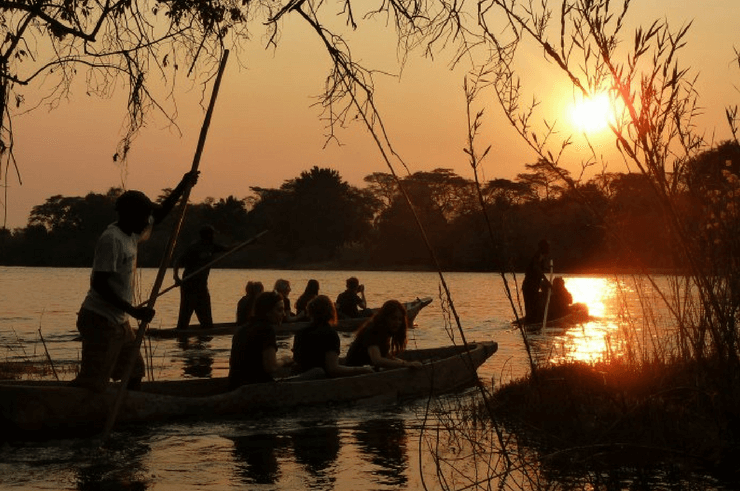 Bovu Island on the Zambezi