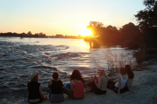 Sundowners in Livingstone