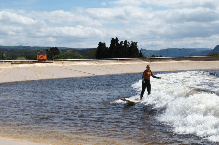 Surfing at Surf Snowdonia