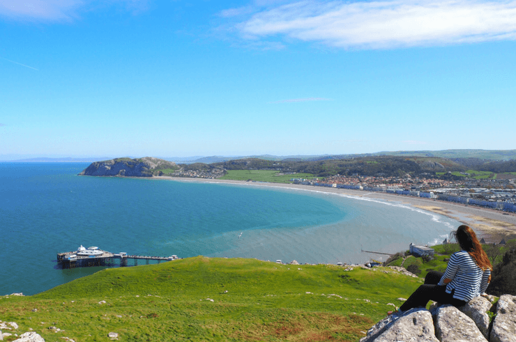 View over Llandudno from the top of the Great Orme