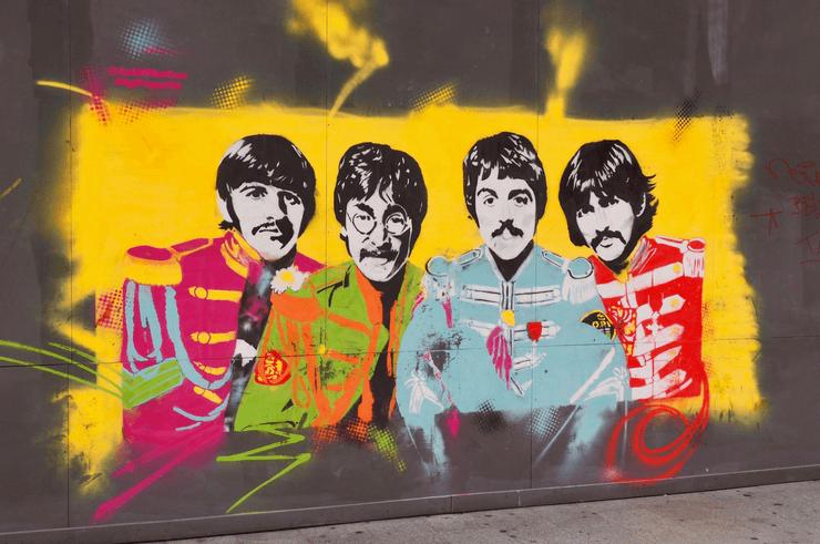 The Beatles Street Art Liverpool