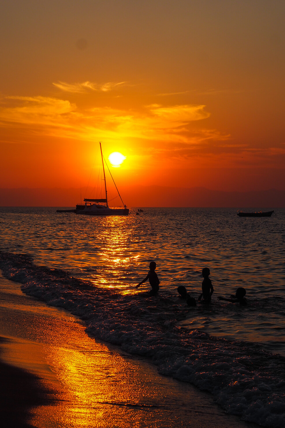 Sunset at Cape Maclear, Malawi