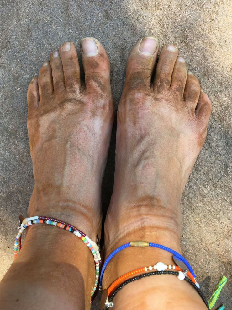 Dusty Africa Feet