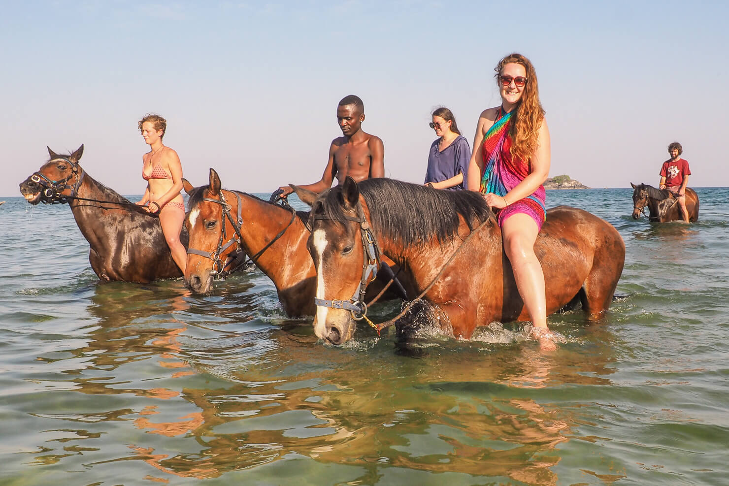 Horse riding on Kande Beach at the Kande Horse.