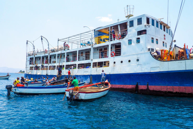 The Ilala Ferry on Lake Malawi