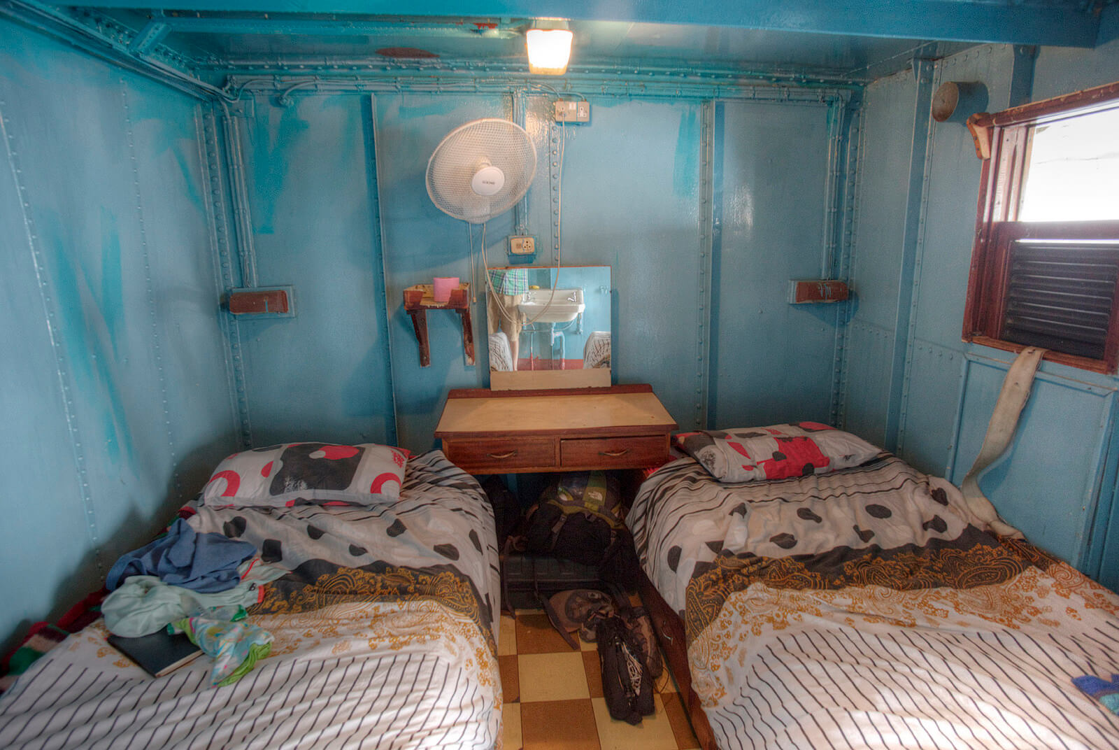 Cabin on the Ilala Ferry in Malawi