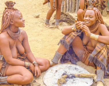 Authentic Himba Tribe Village