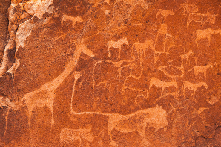 Ancient Rock Engravings at Twyfelfontain - Things To Do in Namibia