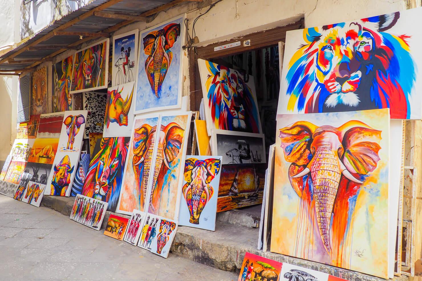 Stone Town Zanzibar Art Shop