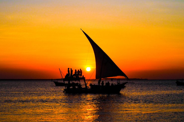 Zanzibar sunset at Kendwa