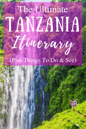 An epic 2-week Tanzania Itinerary including where to go, where to stay and things to do! Including safari in the Serengeti, Mount Kilimanjaro and the beaches of Zanzibar.