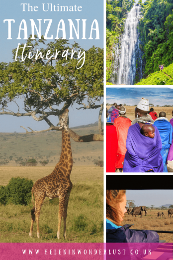 The Ultimate Tanzania Itinerary - An incredible 2-week Tanzania Itinerary including where to go, where to stay and things to do! From safari in the Serengeti, to Mount Kilimanjaro and the beaches of Zanzibar. Here's how to maximise your time in Tanzania.