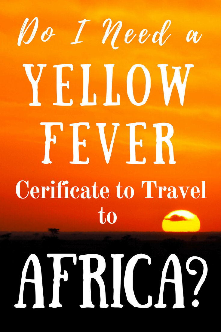 Yellow Fever Information for People Travelling to Africa!