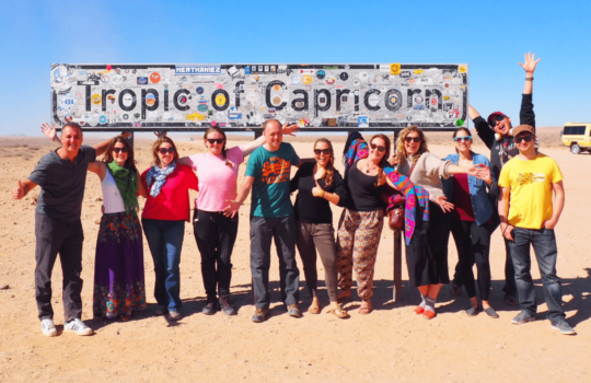 Tropic of Capricorn Sign - Things To Do in Namibia