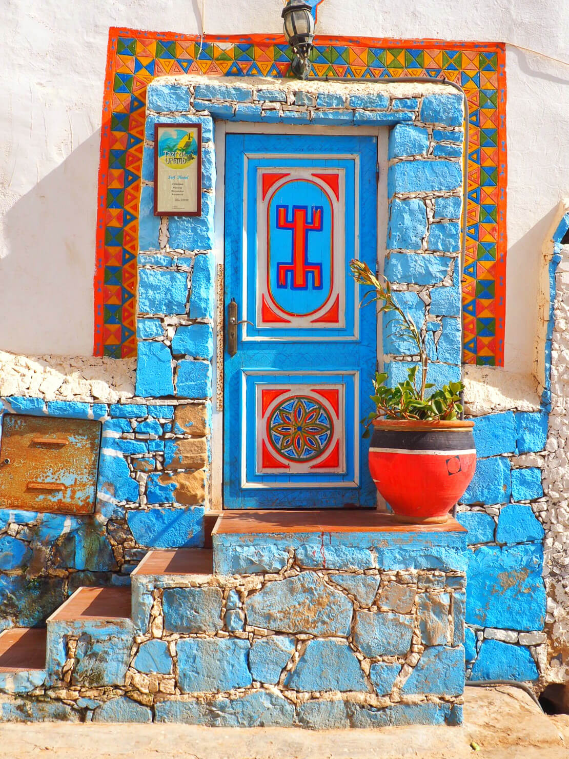Beautiful Moroccan door in Taghazout
